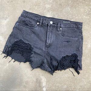 """blanknyc """"the barrow"""" black high waist shorts"""